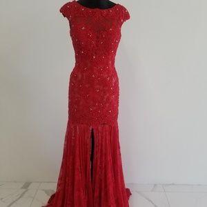 Sherri Hill 50023 Red Gown